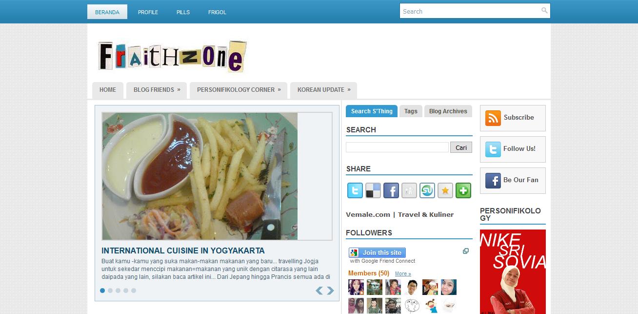 Blog fraithzone.blogspot.com